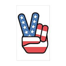 Patriotic Peace Sign Decal