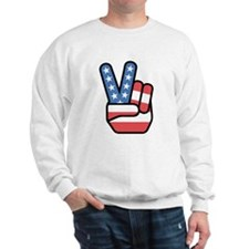 Patriotic Peace Sign Jumper