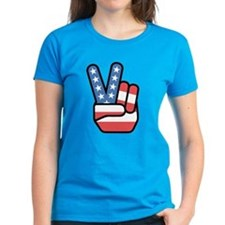 Patriotic Peace Sign Tee