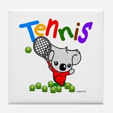 Tennis Koala Bear Tile Coaster