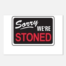 Sorry We're Stoned Postcards (Package of 8)