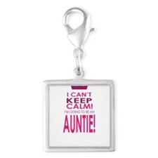 I cant keep calm going to be an auntie Charms