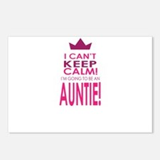 I cant keep calm going to be an auntie Postcards (