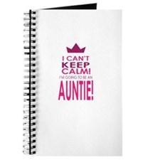 I cant keep calm going to be an auntie Journal