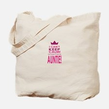I cant keep calm going to be an auntie Tote Bag