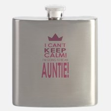 I cant keep calm going to be an auntie Flask