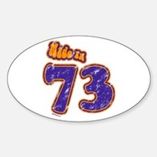 Made in 73 Oval Decal