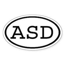 ASD Oval Oval Decal