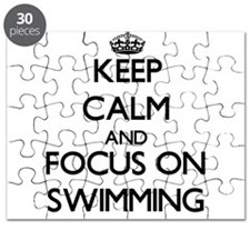 Keep Calm and focus on Swimming Puzzle