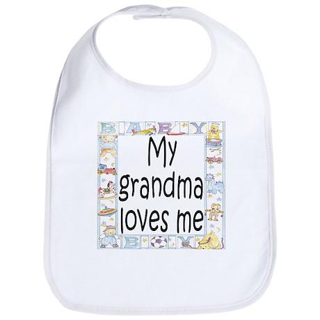 Grandma (Blue) loves me Bib