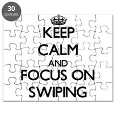Keep Calm and focus on Swiping Puzzle