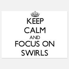 Keep Calm and focus on Swirls Invitations