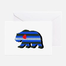 LEATHER BEAR/BLK SHADOW-WORDS Greeting Cards 10 Pk