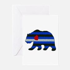 LEATHER BEAR 2 TEXTURED/BEAR GreetingCards 10 Pk