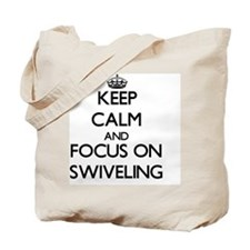 Keep Calm and focus on Swiveling Tote Bag