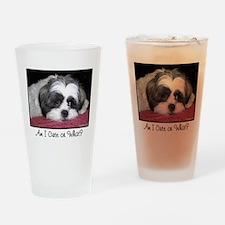 Cute Shih Tzu Dog Drinking Glass