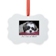 Cute Shih Tzu Dog Picture Ornament
