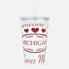 Somebody In Michigan L Acrylic Double-wall Tumbler