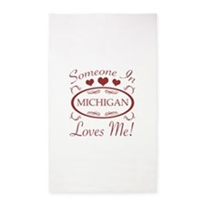 Somebody In Michigan Loves Me 3'x5' Area Rug