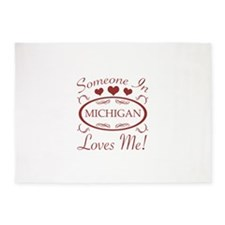 Somebody In Michigan Loves Me 5'x7'Area Rug