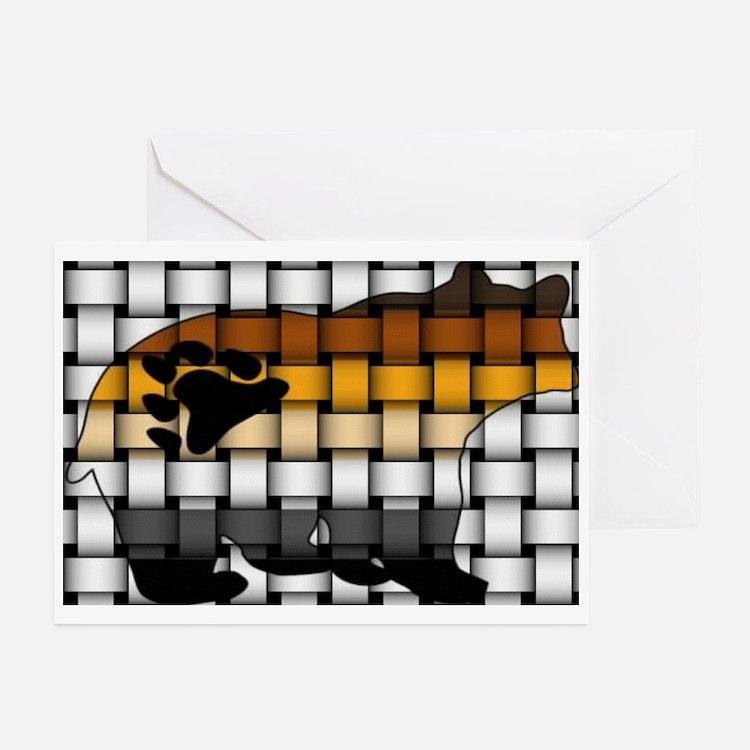 BEAR PRIDE BEAR-WOVEN Greeting Cards (Pk of 10