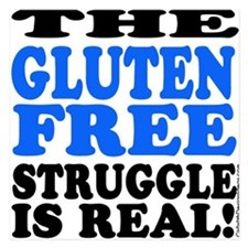 Gluten Free Struggle Blue/Black Invitations