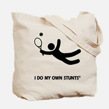 Tennis Funny My Own Stunts Tote Bag