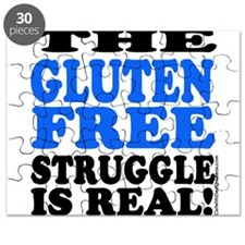 Gluten Free Struggle Blue/Black Puzzle