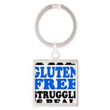 Gluten Free Struggle Blue/Black Keychains
