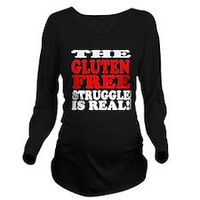 Cute Gluten free Long Sleeve Maternity T-Shirt