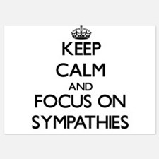 Keep Calm and focus on Sympathies Invitations