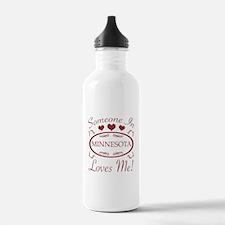 Somebody In Minnesota Water Bottle