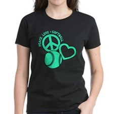 PEACE-LOVE-SOFTBALL Tee