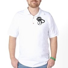 PEACE-LOVE-SOFTBALL T-Shirt
