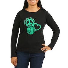 PEACE-LOVE-SOFTBA T-Shirt