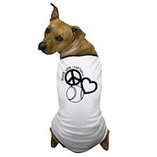 PEACE-LOVE-SOFTBALL Dog T-Shirt