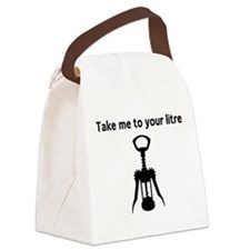 Take me to your litre Canvas Lunch Bag