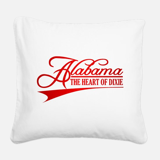 Alabama State of Mine Square Canvas Pillow