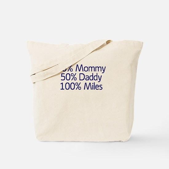 100% Miles Tote Bag