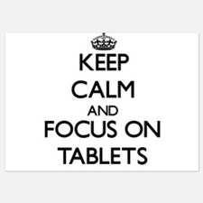 Keep Calm and focus on Tablets Invitations