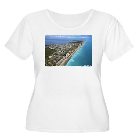 Jensen Beach Women's Plus Size Scoop Neck T-Shirt
