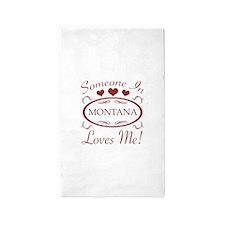 Somebody In Montana Loves Me 3'x5' Area Rug