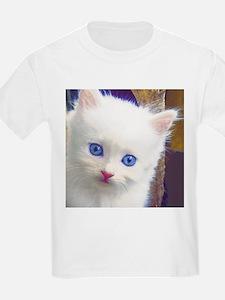 Adorable Blue-Eyed Kitten T-Shirt