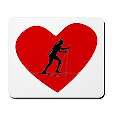 Biathlete Heart Mousepad