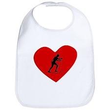 Biathlete Heart Bib