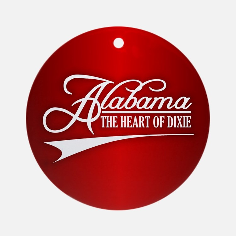 Alabama State of Mine Ornament (Round)