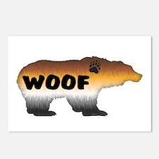 FURRY PRIDE BEAR/WOOF Postcards (Package of 8)