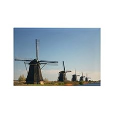 Windmills Rectangle Magnet
