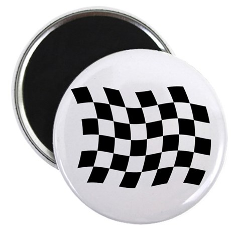 "Checkered Flag 2.25"" Magnet (100 pack)"