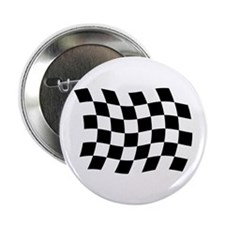 """Checkered Flag 2.25"""" Button (100 pack)"""